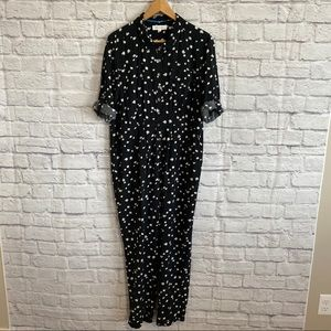 TWO BY VINCE CAMUTO Black Jumpsuit 3/4 Sleeves